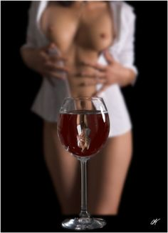 Naked lady champagne flute