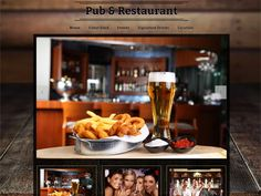 An easy to customize Restaurant or Pub website template with informational pages and a contact form. Only on Talkspot.com