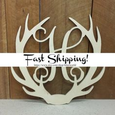 Hey, I found this really awesome Etsy listing at https://www.etsy.com/listing/250100212/wooden-antler-monogram-door-hanger