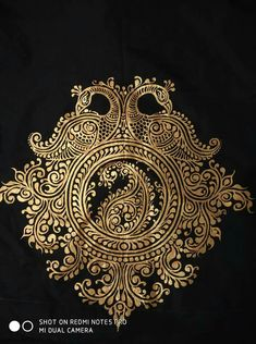 Digen Saree Painting, Kalamkari Painting, Tanjore Painting, Mural Painting, Fabric Painting, Rangoli Patterns, Rangoli Designs Diwali, Rangoli Ideas, Traditional Paintings