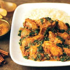 Indian-Spiced Chicken and Spinach - Chicken Spinach Curry Recipes - Delish
