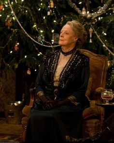 Christmas at Downton Abbey: Dame Maggie Smith as Violet Crawley, Dowager Countess of Grantham.