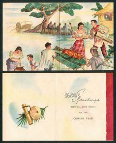 Pinoy kollektor 79 1960s native philippine christmas cards i love vintage ephemera of any kind especially christmas greeting cards i recently got m4hsunfo