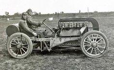1906フレイア・ミラー・レーシング・カー  古いモーター