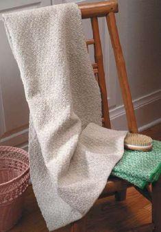 Contemporary Overshot Bath Towels   #weaving #overshot #kit