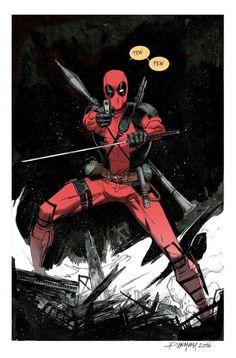 """""""Pew Pew"""" Deadpool - Dan Mora"""