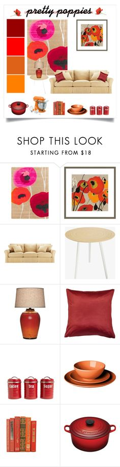 """""""pretty poppies"""" by divacrafts ❤ liked on Polyvore featuring interior, interiors, interior design, home, home decor, interior decorating, Surya, Big Fish, Baldwin and Universal Lighting and Decor"""