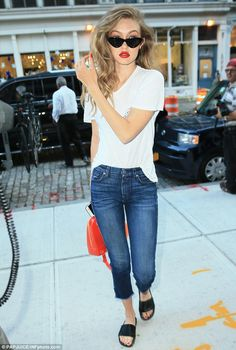 All for her job! It appears the stunner's snap was taken during a photo shoot on Thursday in New York City