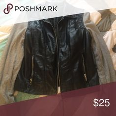 Faux leather jacket Faux leather jacket lightly worn. Accepting reasonable offers!😊 Charlotte Russe Jackets & Coats