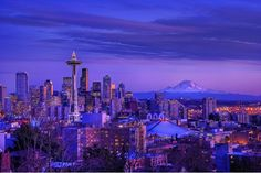 Winter lights of Seattle.