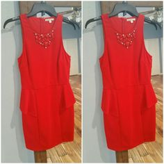 Charlotte Russe Cocktail Dress Red cocktail/party dress. Size is Large but fits more like a Medium. It's a little worn but not really any obvious flaws. Charlotte Russe Dresses