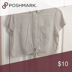 Black and white polka dot top size small Forever21 top Forever 21 Tops Blouses