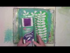 Using a Gelli Plate with a StenciGirl stencil and a Cotton Swab with Carolyn Dube