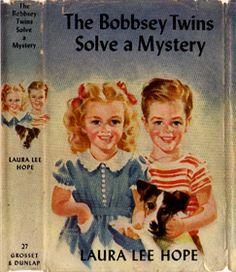 The Bobbsey Twins.  Grosset & Dunlap Dust Jacket number 4 (1940s-1962).  Image from James D. Keeline's wonderful website.