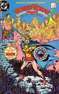 Cover art by George Perez for Wonder Woman #10 (1987)