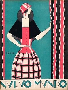 An original cover for the Spanish magazine Nuevo Mundo, dated 1925