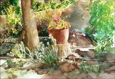 TAOS POT Southwest 21 x 14 Giclee Watercolor Art Print