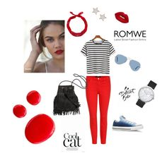 """Bez naslova #8"" by munevera-berbic ❤ liked on Polyvore featuring J Brand, Converse, Ray-Ban, New Look, Givenchy, Lime Crime and Elwood"