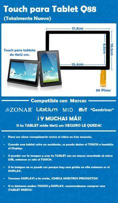 Touch para Tablet Q88 ¡Totalmente Nuevo!