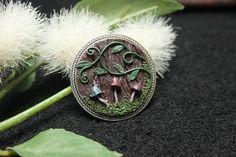 Fairy forest mushroom brooch fantasy brooch fairy gifts