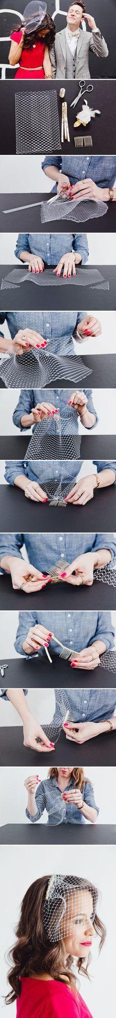 How to Make a $10 Birdcage Wedding Veil