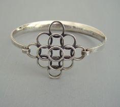 Bracelet |  STERLING E. Granit & Co mid-century modern sterling Finland hallmarked bracelet