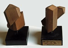 Wooden crystal models from Germany or Austria (end of 19th century)