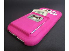 PINK Galaxy S3 Case w/ card holder, Wallet, Money Clip, n bottle opener by Amnfx