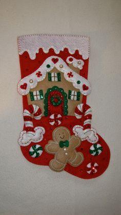 Felt christmas stocking kits bucilla felt applique christmas bucilla gingerbread house completed gingerbread houseschristmas stockingschristmas solutioingenieria Images