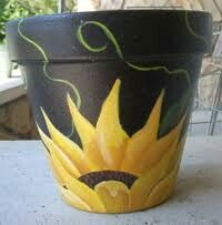 I really love this pot! Am going to try and copy it come Summer for my patio! Pr - Plant Pot - Ideas of Plant Pot - I really love this pot! Am going to try and copy it come Summer for my patio! Probably won't look anything like this . I'm no artist! Flower Pot Art, Flower Pot Design, Clay Flower Pots, Flower Pot Crafts, Painted Plant Pots, Painted Flower Pots, Painted Pebbles, Hand Painted, Clay Pot Projects