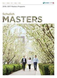 Schulich Masters Viewbook 2016