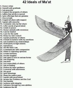 Maat the egyptian goddess of justice