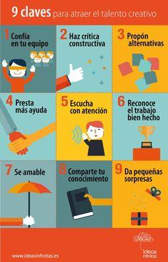 9 claves para potenciar creatividad en tu equipo @itziardu:  #infografia  #Creatividad