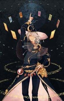 Astrologian Lyon by nipuni on DeviantArt Fantasy Character Design, Character Design Inspiration, Character Concept, Character Art, Anime Witch, Fantasy Wizard, Final Fantasy Xiv, Witch Characters, Fantasy Characters