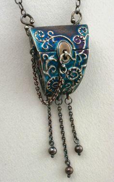 Terry Kovalcik Jewelry.  WOW.  Look at that beautiful patina.