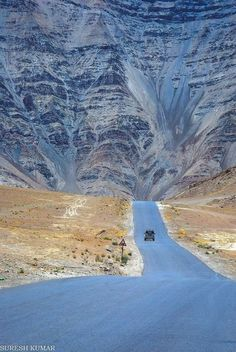 Magnetic hill , Leh ,Ladakh , India.