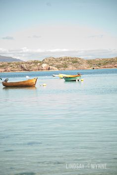 Boats in the Bay of Iona. $25.00, via Etsy. by Lindsay Wynne Photography