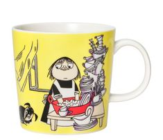 Misabel Moomin Mug by Arabia – The Official Moomin Shop Moomin Shop, Moomin Mugs, Yellow Mugs, Moomin Valley, Tove Jansson, Goods And Services, Helsinki, Scandinavian Design, Nordic Design