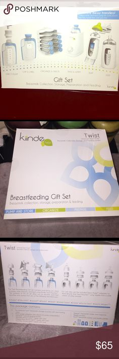 Kiinde Twist Breastfeeding Gift Set Purchased online from BabbiesRUs for $99 plus tax and shipping. Perfect solution for what I thought was going to be my on the go working mom breastfeeding needs. My son was born and decided to quit my job. I still gave part of this system a try. I was quiet impressed but my milk supply was low so that idea did not last. Used 5 pouches so you will only get 15 instead of 20 and the nipple brushes got lost so 0 nipple brushes. Other than that you get…