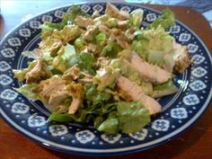 Fabulous Chicken-Pistachio Salad made with chicken breast and finely crushed pistachio nuts satisfies every taste bud.  The dressing includes an onion and a ripe avocado. Just wonderful! - Contributed by South Beach Diet member William T.