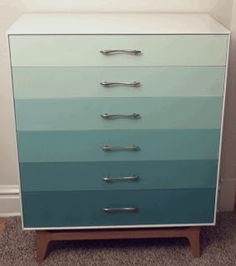 Ombre Dresser -- in a flat file were done this way it could store poster paper
