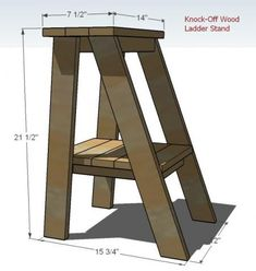 """Super easy but a little tricky ladder table plans"" -- this could be my first build project.  Use it for a plant stand, bedside table... Ana White is aaawesome"