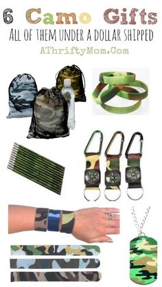 Camo gifts under a dollar, makes a great party favor or stocking stuffer, Hunting and Fishing gift ideas. Scout Leaders these could make great gifts for your troop