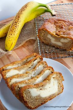 Cream Cheese Banana Bread: You will never want banana bread any other way again - Eazy Peazy Mealz