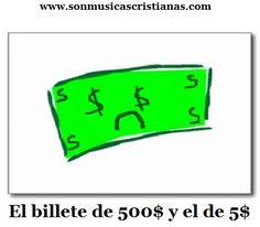 El billete de 500$ y el de 5$ | Chistes Cristianos