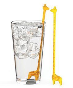 Another great find on #zulily! Giraffe Stir Stick - Set of Five #zulilyfinds