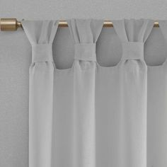 Shop Madison Park Florah Floral Embellished Cuff Tab Top Solid Window Panel - On Sale - Overstock - 20599436 Tab Top Curtains, Drapes Curtains, Nursery Curtains Girl, Sheer Drapes, Colorful Curtains, White Paneling, Window Panels, Shabby Chic Homes, Decorative Pillows