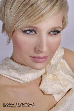 Blond hair, short hair, wedding make-up, gold, beautiful, krátké vlasy, blond vlasy, zlatý make-up, svatební make-up, nevěsta, bridal make-up