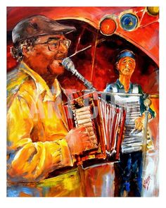 Zydeco With Warren Prejean  Photographic Print By Diane Millsap