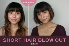 Short Hair Blow Out | SB Beauty
